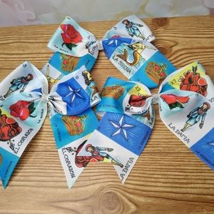 Mexican Loteria Hair Bows (Large)